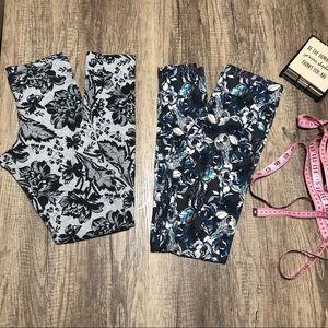 2 pairs patterned leggings
